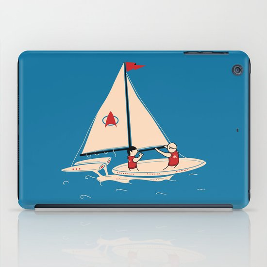 Sailing Towards Future Unknowns iPad Case