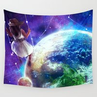 constellation Wall Tapestries featuring Constellation by J ō v