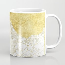 Edinburgh Map Gold Coffee Mug