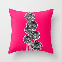 Rounded Flower Throw Pillow