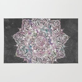 Dreaming Mandala - Magical Purple on Gray Rug