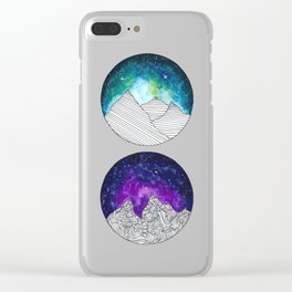 Galaxy Moons Clear iPhone Case