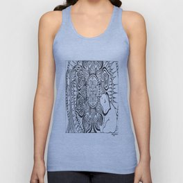 Polar Bear Mandala by Lady Lorelie Unisex Tank Top