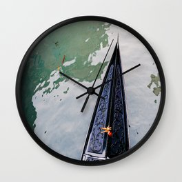 Gondola in the Canal in Venice, Italy Wall Clock