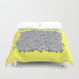 Stand Out & Be Herd Duvet Cover
