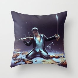 Outburst of violince Throw Pillow