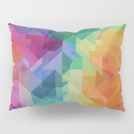 RAINBOW MULTI COLOR GEOMETRIC PRINT Pillow Sham