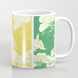 Japanese Birds & Flowers Panel Art earth tones 4 Coffee Mug