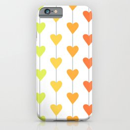 Rainbow Full Heart Strings iPhone Case
