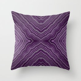Abstract #9 - IX - Purple Throw Pillow