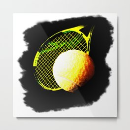 Power Tennis Metal Print