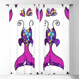 Mermaid Tails Pattern / Multicolor Scales Blackout Curtain