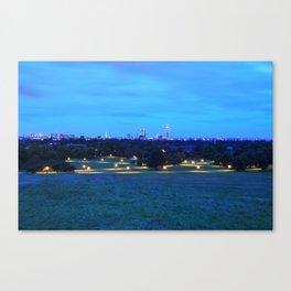 Golden Night Lights Canvas Print
