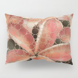 Percolated Tropical Flowers Pillow Sham