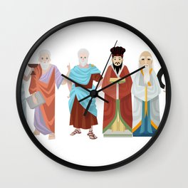 great philosophers from all times Wall Clock