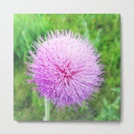 Flower Sphere Metal Print