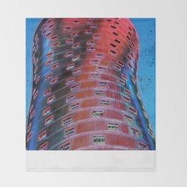 Torre Fira bcn Throw Blanket