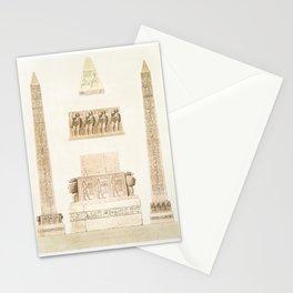 Obelisk of Ramses - Memoun from Histoire de lart egyptien (1878) by Emile Prisse dAvennes Stationery Cards