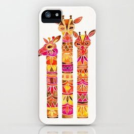 Giraffes – Fiery Palette iPhone Case