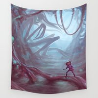 boss Wall Tapestries featuring End Boss Battle by Holly Bender