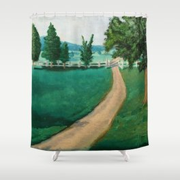 Countryside in England Shower Curtain