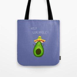 Holy Guacamole, avocado with sombrero Tote Bag