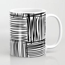 Modern Square Black on White Coffee Mug