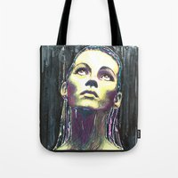kate moss Tote Bags featuring kate moss by lisylight