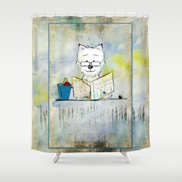 West Highland White Terrier ~ Westie ~ Sophisticated Wally ~ Ginkelmier Shower Curtain