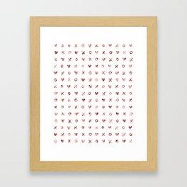 XOXO Love Me Rose Gold Pattern Framed Art Print