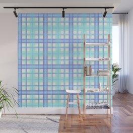 Am I Blue Plaid Wall Mural