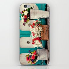 Vintage + Flowers  iPhone & iPod Skin
