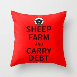 Sheep Keep Calm Throw Pillow