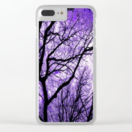 The Trees Know (purple) Clear iPhone Case