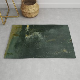 Nocturne In Black And Gold The Falling Rocket By James Mcneill Whistler | Reproduction Rug