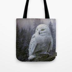 Snowy Owl looking for prey Tote Bag