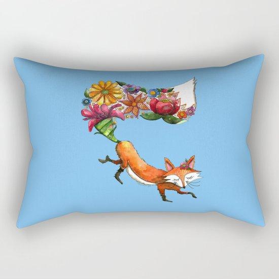 Hunt Flowers Not Foxes Rectangular Pillow