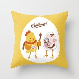 Chickasso Throw Pillow