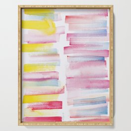 9 | 181101 Watercolour Palette Abstract Art | Lines | Stripes | Serving Tray