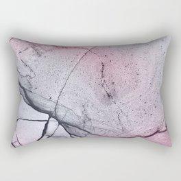 Urban Pink and Grey Marble Rectangular Pillow