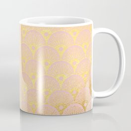 Gold and pink sparkling Mermaid pattern Coffee Mug