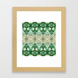 Boujee Boho Green Lace Geometric Framed Art Print