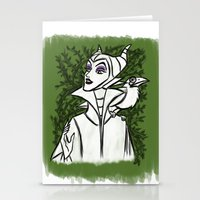 maleficent Stationery Cards featuring Maleficent by carotoki