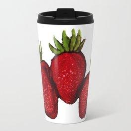 Strawberries - alcohol ink Travel Mug