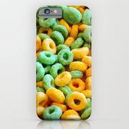 Breakfast Loops - Green & Gold iPhone Case