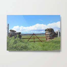 Rusty Gate Farm Metal Print