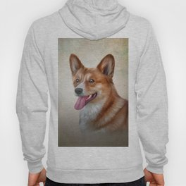 Drawing Dog Welsh Corgi Hoody