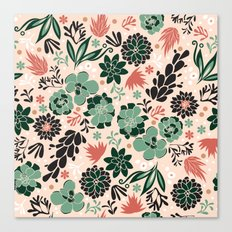 Succulent flowerbed Canvas Print