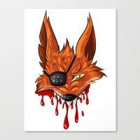 fnaf Canvas Prints featuring FNAF: Foxy the Pirate by Hide-N-Seek