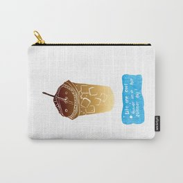 Iced Coffee: Woodblock Prints. Like One Cool Shower on a Hot Summer Day! Carry-All Pouch